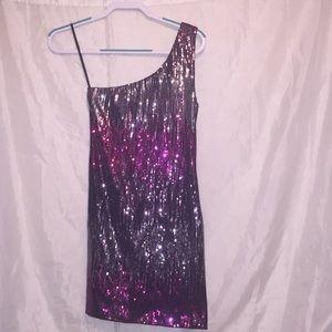 Charlotte Russe one shoulder sequin dress Sz M 💕